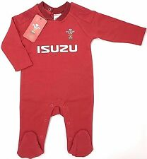 Wales Welsh Rugby Team Sleepsuit Babygrow Kit 3/6 Mths PS