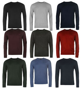 Pierre Cardin Mens Crew Neck Knitted Jumper New Long Sleeve Sweater Pullover Top