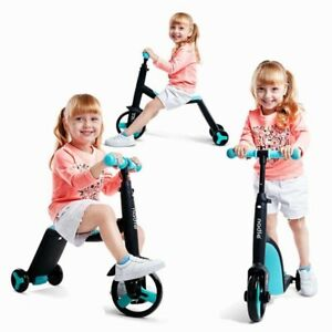 3 In 1 Kids Balance Bike Children Scooter Toddler Tricycle Baby Sport Training
