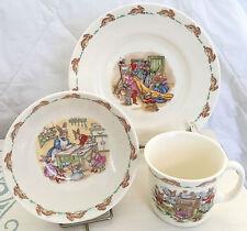 VTG Royal Doulton Bunnykins Golden Jubilee Set Plate Cereal Bowl & Mug BABY GIFT