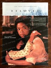 BELOVED Rare Oscar Ad BEST ACTRESS Oprah Winfrey FOR YOUR CONSIDERATION