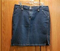 Sonoma Women's Stretch Knee Length Denim Skirt Size 16