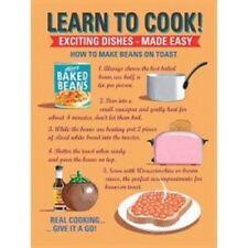 Vintage-Retro-Chic-placa de registro de pared de metal-aprender a cocinar-Signo