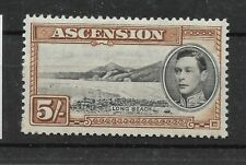 Ascension:1938/53:KGVI-5s.Stamp.Mint.Cat £95+