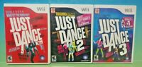 Just Dance 1 2 3 Trilogy - Dancing Games Nintendo Wii Game  1-4 players Working