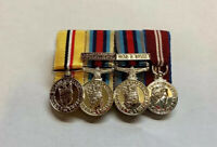Optelic Osm Afghanistan Op shader With Iraq Syria Bar Miniature Medals Mounted