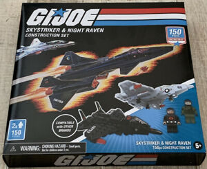 *NEW* GI Joe Skystriker & Night Raven Construction Set 150 Piece GJ3523-02