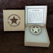 U.S. Marshal Round Badge (Story inside the box)