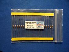Resistors, carbon film, 1/4 watt, 5%, axial leaded, 150 Ohm - QTY of 20