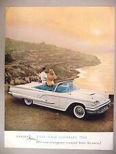 Ford Thunderbird Convertible PRINT AD - 1959