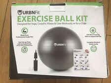 Exercise Ball Kit Urbnfit 65 Black Ball Hand Pump Valve Plugs etc.