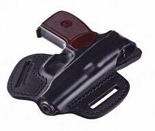 Belt Holster for Makarov pistol, genuine leather, black, additional loop