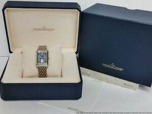 Jaeger LeCoultre Reverso 25th Anniversary 270.8.62 Steel Mens Watch Box Papers