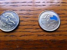 "CANADA, 2011, ""ORCA WHALE  - COLOR + REGULAR = 2 OF 25 CENTS COINS UN-CIRCULATED"