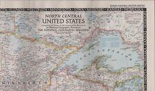 Map United States 1948 Dakota Minnesota Iowa Nebraska Kansas Missouri Hl3.238
