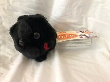 """4"""" Giant Microbes Plush HIV AIDS Red awareness ribbon w/ tag"""