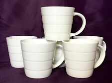 Set of 24 Plain White Bone China Mugs