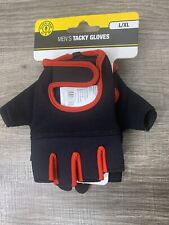 GOLDS GYM Men's Tacky Gloves Black Red Weight Lifting L/XL