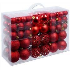 Set 100 Palline Palle di Natale Decorazioni Albero di Natale in plastica Rosso