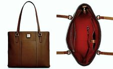 DOONEY&BOURKE Lexington Pebble Leather 10x3x12 Brown Shopper+DustBag NWT $198+Tx