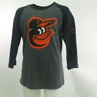 Baltimore Orioles Official MLB Majestic Kids Youth Size Long Sleeve Shirt New