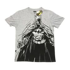 New Batman Mens T Shirt XL Grey DC Comic Book Super Hero BNWT Robin Joker Gotham