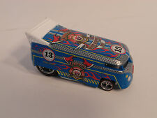Hotwheels HW Custom VW DRAG BUS BLUE Real Riders