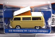 VOLKSWAGEN T2 TYPE 2 WESTFALIA CAMPER CAMPMOBILE '70 V-DUB 29820 1:64 GREENLIGHT
