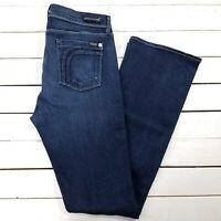 Fidelity Denim Jeans Womens 31x34 Dark Wash High Waist Bootcut Boot Cut J1013