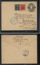 Chile uprated revalued postal envelope to Germany clean cover 1915 Kl1111