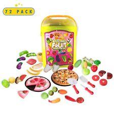 Toyrifik 72 Piece Play Food Set- Pretend Play Kitchen Toys In Bucket