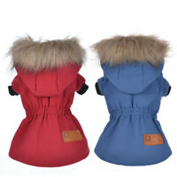 Dog Cat Coat Jacket Pet Hoodie Clothes Winter Apparel Outwear Puppy Costume