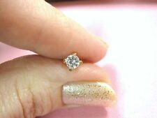 LQQK Gorgeous 14k solid Rose GOLD Single 1 stud Earring Sparkly CZ Girls Ladies
