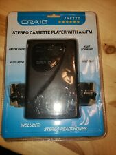 Vtg Craig Stereo Cassette Player Am/Fm Radio W/ Headphones Jh6222 Sealed New