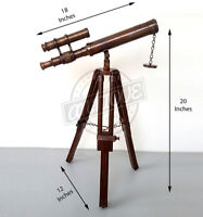 Titanic Zoom Lens Long Telescope With Wooden Movable Stand Ship Captain Gift 15X