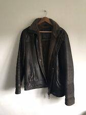 Mens Austin Reed leather biker jacket XL