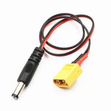 Lantian RC XT60 Male to DC 5.5 Power Cable For FatShark HD2/V3 FPV Goggles Batte