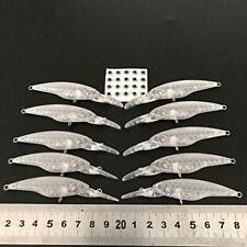 10pcs Unpainted Minnow Bait Fishing Body 86mm 4.74g Blank Lures Free Eye 339#