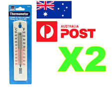 **2 X THERMOMETERS INDOOR/OUTDOOR CENTIGRADE MERCURY FREE SCALE FOR HOME GARDEN