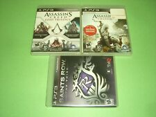 Assassins Creed Ezio Trilogy, III 3 & Saints Row Third CIB Complete GREAT PS3!