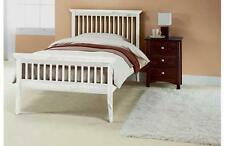 Single Bed & Mattress FREE UK 24hr DELIVERY  3ft Pine Shaker White SOLID PINE
