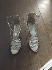 Zapatos De Taco Oficina Zapatos De Boda De Plata UK 6/