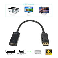 Display Port DP Male to HDMI Active Adapter - Supports Ultra HD 4K 1080P LI