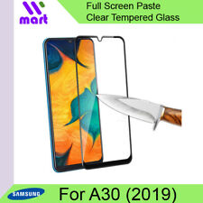 Full Screen Protector Clear Tempered Glass For Samsung Galaxy A30 2019