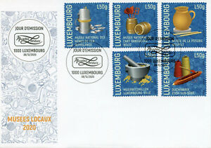 Luxembourg Art Stamps 2020 FDC Local Museums Pottery Handicrafts 5v S/A Set