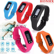 Run Step Walking LCD Digital Pedometer Distance Calorie Counter Bracelet Watches