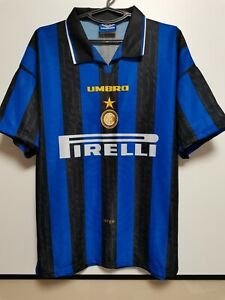 SIZE L Internazionale Inter Milan 1996-1997 Home Football Shirt Jersey