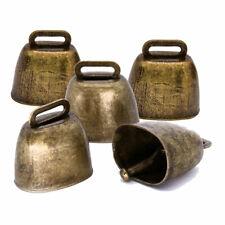 5Pcs Cow Horse Sheep Grazing Copper Cattle Farm Animal Copper Loud Brass Bells