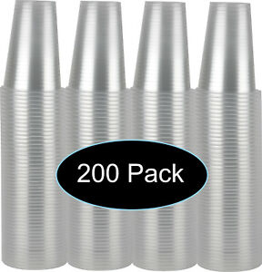 7 oz Clear Plastic Disposable Drinking Cups 200 count