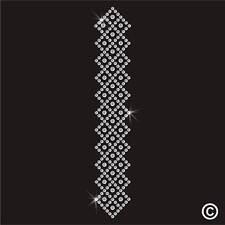 Abaya Hijab Boarder Pattern Rhinestone Diamante Transfer Hotfix Iron on Motif